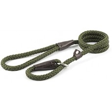 Ancol Heritage Rope Slip Lead  - Forest Green