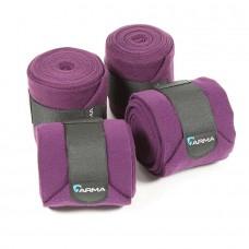 Shires Arma Fleece Bandages - Plum