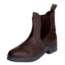 Hy Kids Waxed Leather Jodhpur Boots in Brown