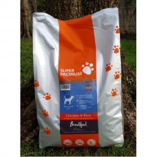 Broadfeed Super Premium Complete Small Bite Adult Dog Chicken & Rice (Available in Three Sizes)