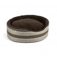 Ancol Tawny Stripe Oval Dog Bed - 50cm