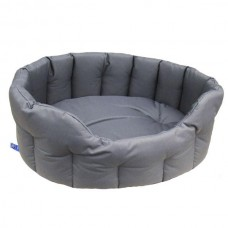 P&L Country Dog Heavy Duty Oval Dog Bed - Grey