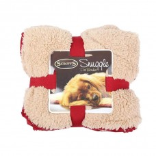Scruffs Cosy Blanket - Burgundy and White