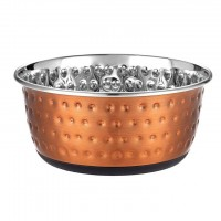 Luxury Embossed Dog Bowl in Copper - 1900ml