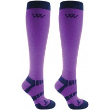 Woof Wear Winter Riding Socks - Violet & Navy
