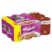 Whiskas Cans Meat Selection Jelly 12x390g