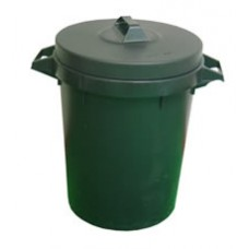 Plastic Dustbin With Lid Black