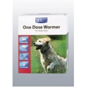 Sherleys 1 dose Dog Wormer x 4 tab