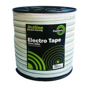 Hotline Tape Paddock White - 40mm x 200M