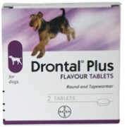 Drontal Dog Bone Shape - 6 pack*