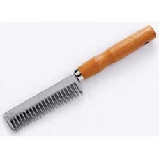 Mane Comb Metal/ Wooden Handle