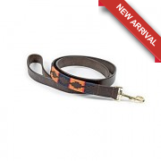 Drover Dog Lead - Navy/Orange