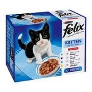 Felix Kitten Pouch Mixed Selection 12 x 100g