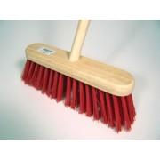 Flat Top PVC Broom in Red