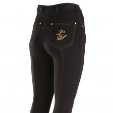 Legacy Ladies Jodhpurs - Contrast Stitch Black with Gold Stitching