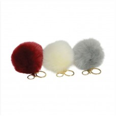 Fluffy Pom Pom Key Ring