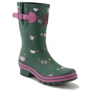 Evercreatures Short Chicken Print Wellies
