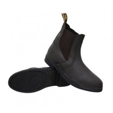 Hy Waxed  Leather Zip Boot - Brown
