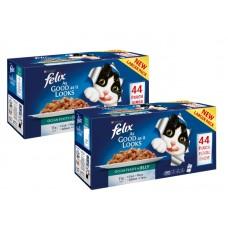 Felix Pouch As Good As It Looks Ocean Feasts Selection in Jelly 40x100g Multi-Buy Deal