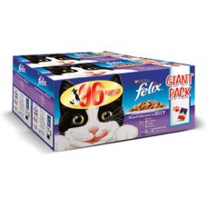 Felix Mixed Selection in Jelly Pouches GIANT PACK 96x100g