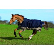 Amigo Mio Lightweight Turnout Rug Navy / Tan