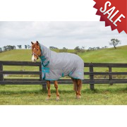 Saxon 600 Combo Heavyweight Turnout Rug in Grey/Blue