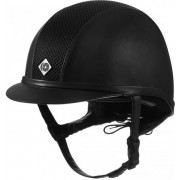 Charles Owen Ayr8 Black Leather Look Hat Black (available in standard & round fit)