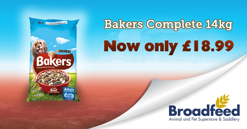 Bakers Complete 14kg only £18.99
