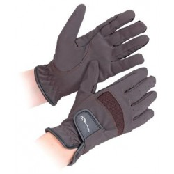 Shires Bicton Competition Gloves - Brown