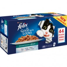 Felix Pouch As Good As It Looks Ocean Feasts Selection in Jelly Pouches (40x100g)