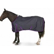 Gallop Trojan Lightweight Turnout - Navy/Purple