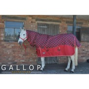 Gallop Heavyweight Combo Turnout Red Tartan Plaid