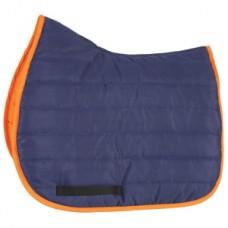 Shires Wessex High Wither Comfort Saddlepad - Navy/Orange