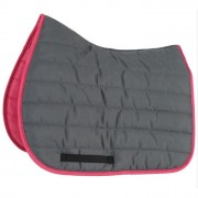 Shires Wessex High Wither Comfort Saddlepad - Grey/Pink
