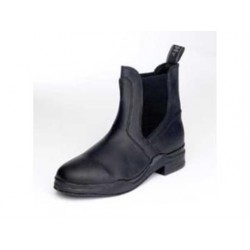Hy Childrens Waxed  Leather Boot - Black