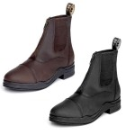 Hy Waxed  Leather Zip Boot - Black