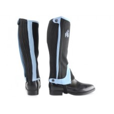 Hy Childs Two-Tone Amara Half Chaps - Black/Blue (Available in 3 sizes)
