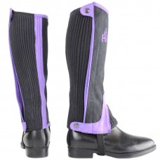 Hy Childs Two-Tone Amara Half Chaps - Black/Purple (Available in 3 sizes)