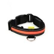 Animate Soft Nylon Orange LED Collar