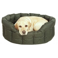P&L Country Dog Heavy Duty Oval Drop Fronted Waterproof Softee Dog Bed