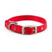 Ancol Padded Nylon Eyelet Collar Red 46-56cm L