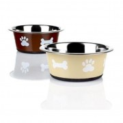 "Posh Stainless Steel Paw Bowl 8"" (available in 2 colours)"