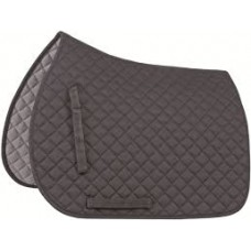 Shires Quilted Saddlecloth - Black