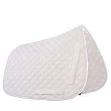 Shires Quilted Saddlecloth - White