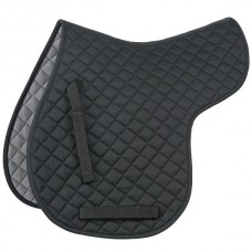Shires Quilted Numnah - Black