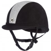 Charles Owen Yr8 Black with Silver Sparkle Hat - Available in standard & round fit)