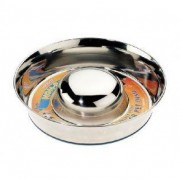 Stainless Steel Non Tip Slow Feeder Bowl
