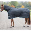 Shires Tempest Stable Rug + Neck Set 200g Black/Turquise*