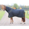 Shires Tempest Stable Rug + Neck Set 300g Black/Lime*