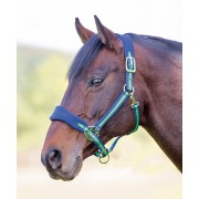 Shires Topaz Fleece Headcollar - Green/Navy